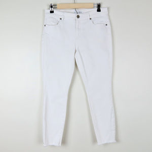 LOFT | White Modern Skinny Released Hem Jeans (C3)
